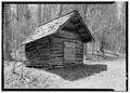 EXTERIOR, GENERAL VIEW FROM FRONT - Henry Whitehead Place, Smokehouse, Townsend, Blount County, TN HABS TENN,5-CADCO.V,1A-1.tif