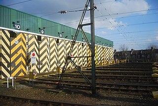 railway depot in Newham, London, England