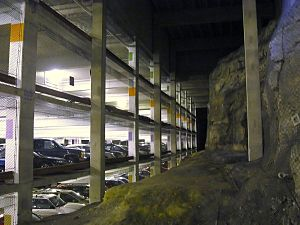 Parking - An underground parking garage at the University of Minnesota