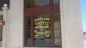 Eastland County, Texas - Across from the courthouse is the Eastland County Museum and Historical Society building.