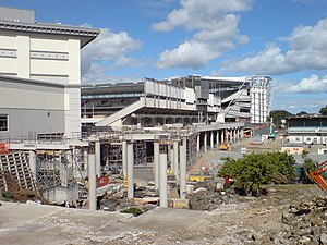 Eden Park - Looking south on the construction of the West Stand at Eden Park