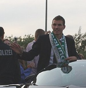 Edin Džeko - Džeko as winner of Bundesliga with Wolfsburg in 2009.