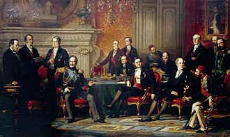 Treaty of Paris (1856) - Edouard Louis Dubufe, Congrès de Paris, 1856, Palace of Versailles.