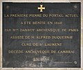 Eglise Saint-Laurent de Paris - Plaque Mgr Darbois.jpg