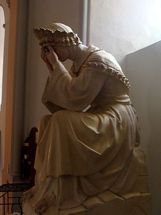 Our Lady of La Salette - Statue depicting Our Lady of La Salette crying in Corps, Isère, France.