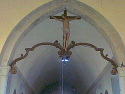 Eglise de Tournay-sur-Odon Christ perché 10062014606.jpg