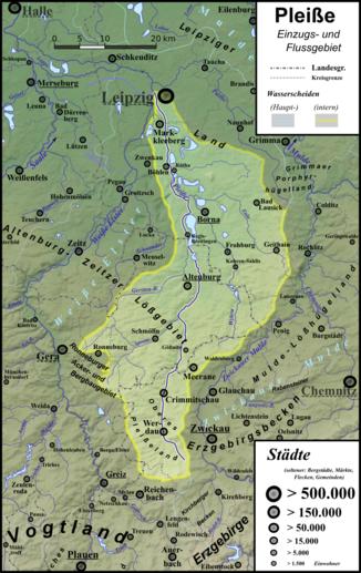 Leipzig Fluss pleiße