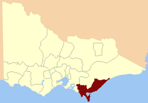 Electoral district of Gippsland South - Image: Electoral district of Gippsland South