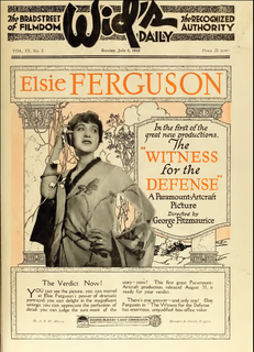 <i>The Witness for the Defense</i> 1919 film by George Fitzmaurice