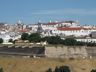 Garrison Border Town of Elvas and its Fortifications building in Elvas, Portalegre District, Portugal