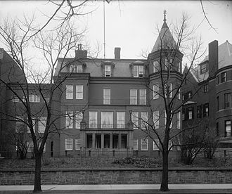 Embassy of Germany, Washington, D.C. - The Massachusetts Avenue chancery of the German embassy pictured in the early 20th century.