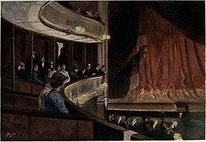 Gudmund Stenersen - Intermission at the Christiania Theater (1899).