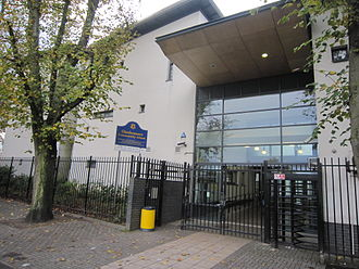 Gladesmore Community School - Entrance to Gladesmore School on Crowland Road