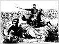 Episódios da guerra no Sul - O tenente-coronel Salustiano Jeronymo dos Reys da 14ª brigada na batalha de Tuyuty, vê cahir o filho, alferes Salustiano Jeronymo Fernandes Reys, moço de 17 anos, ferido por um foguete a congréve..jpg