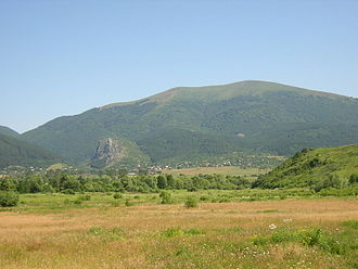 Jerma - The Erma valley, seen from the village Yarlovo across towards Ruy mountain, Bulgaria