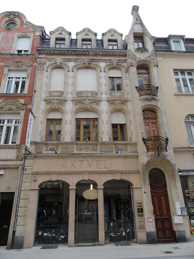File esch sur alzette rue d 39 alzette 61 art nouveau 1 jpg for Maison moderne luxembourg wikipedia