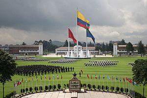 José María Córdova Military School - The military academy during a graduation ceremony