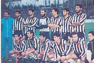 Algerian Ligue Professionnelle 1 - The brilliant team of ES Setif Champion Algeria 1986–1987 African champion in 1988 with From Left to Right:    Stand Up : Serrar – Boulehdjilet – Osmani – Nabti – Zorgane – Bernaoui   Sitting Bendjabellah – Rahmani – Adjissa – Gharib – Adjass