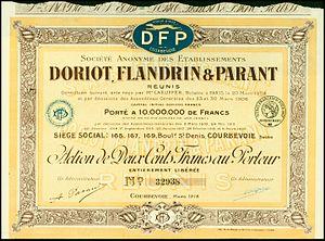 Doriot, Flandrin & Parant - Image: Etablissements Doriot, Flandrin & Parant 1918