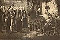 Ettore Ximenes - gli ultimi momenti di Vittorio Emanuele II - litografia - about 1878.JPG