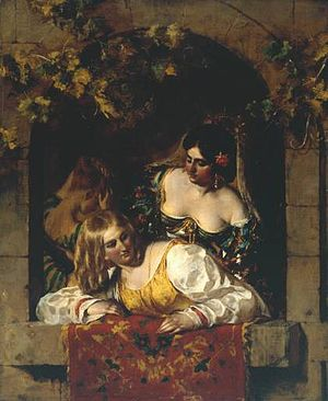 Preparing for a Fancy Dress Ball - Image: Etty Venice 1831