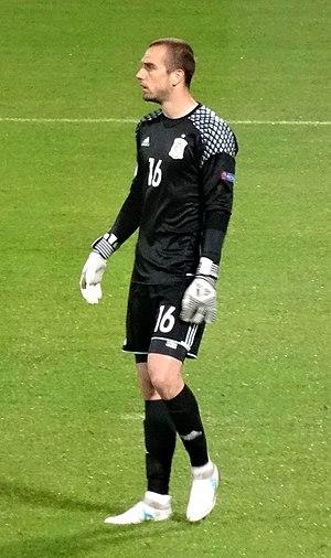 Pau López - Pau with Spain U21 in 2017