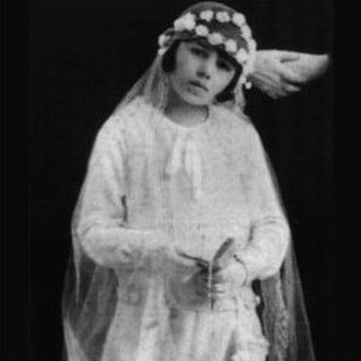 Eva Perón - Eva Duarte at her First Holy Communion, 1926