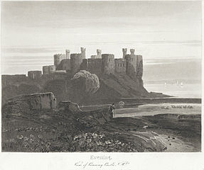 Evening: View of Conway Castle, N. W