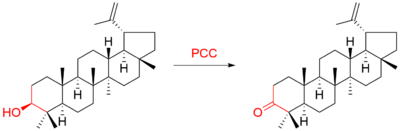 Example of PCC oxidation of secondary alcohol