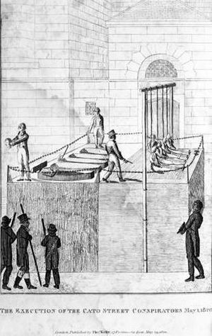 Cato Street Conspiracy - The execution of the Cato Street conspirators, 1 May 1820