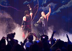 The Brothers of Destruction - The Brothers of Destruction making their exit at Raw 1000