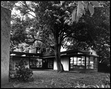 Exterior view of the R.M. Schindler residence, West Hollywood (previously Sherman), 1921-1922 (shulman-1997-JS-315-ISLA).jpg