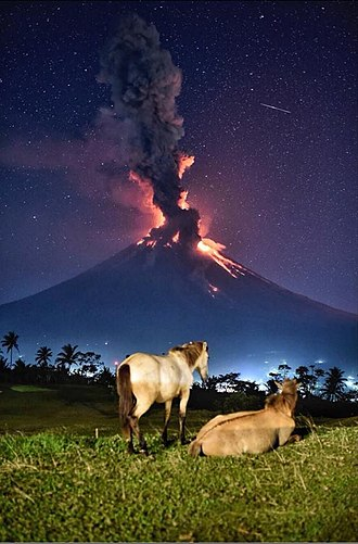 Tourism in the Philippines - Mayon Volcano, a perfectly cone shaped volcano in Albay UNESCO Biosphere Reserve