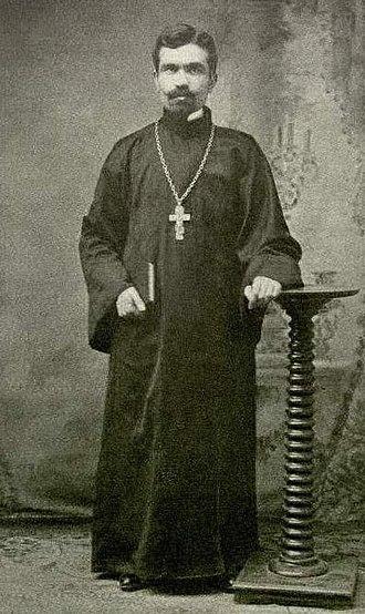 Fan S. Noli - A young Fan Noli as priest (1908).