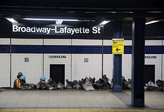 Bleecker Street/Broadway–Lafayette Street (New York City Subway) - FASTRACK construction work at the station