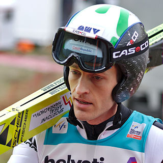 Jan Matura Czech Olympic Nordic skier and ski jumper