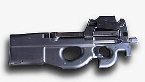Photo of the P90 LV / IR model with an empty magazine in the weapon