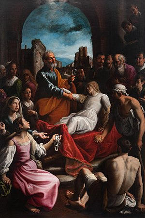 Saint Peter raises Tabitha