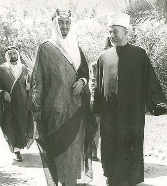 Faisal of Saudi Arabia - Faisal with Haj Amin al-Husseini