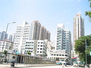 Fanling - New buildings in Luen Wo Hui.