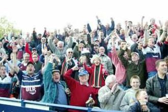 Rotherham Titans - Rotherham fans celebrate famous win away at Worcester