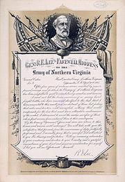 Farewell address Robert E Lee