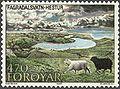 Faroe stamp 151 fagradalsvatn, hestur.jpg