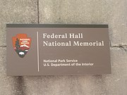 Federal Hall National Memorial sign IMG 1739