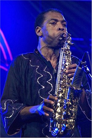 Femi Kuti - Kuti performing on 10 November 2008 Photo: Carlos Fernández San Millán