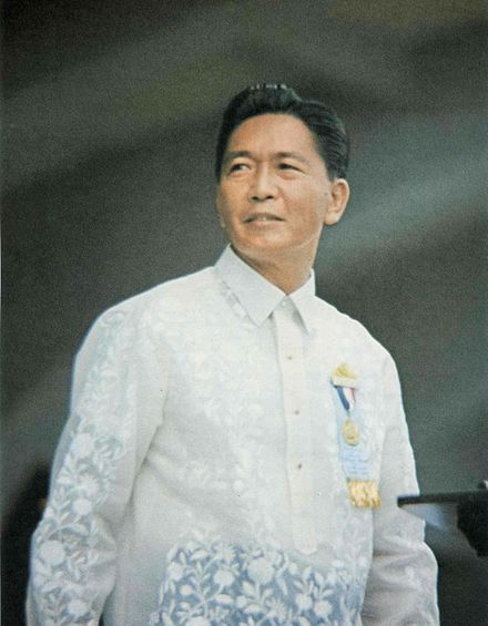 Ferdinand Marcos was the only President to serve three terms (1965-1969, 1969-1981, 1981-1986). Ferdinand E Marcos.jpg