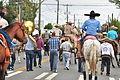 Fiestas Patrias Parade, South Park, Seattle, 2015 - 280 - horses and band (20972176684).jpg