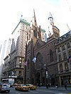 Fifth Avenue Presbyterian Church and The Peninsula Hotel New York.JPG