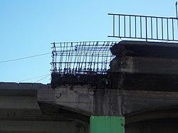 Final de la tercera vía del viaducto Presidente Perón (1).JPG