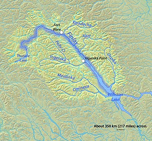 Finlay River - Map of the Finlay River